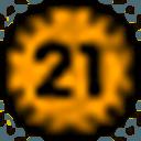 Biểu tượng logo của Bitcoin 21