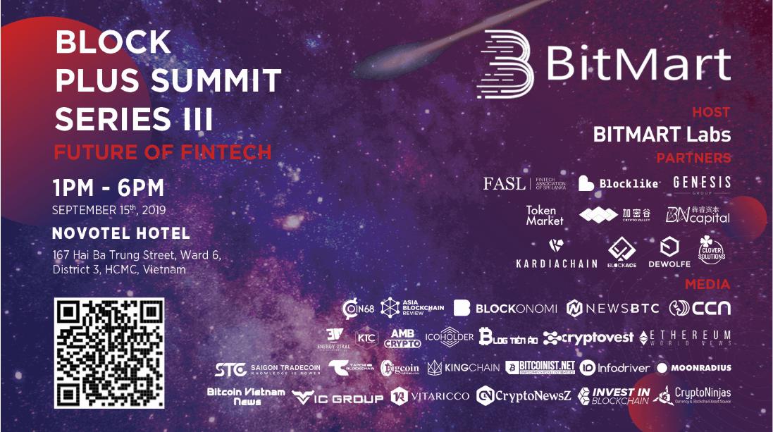 giá bitcoin: Block Plus Summit Series III – Dẫn đường cho tương lai của công nghệ tài chính và tiền điện tử
