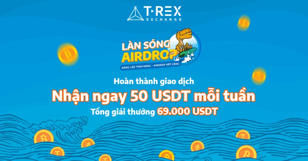 giá bitcoin: T-Rex liên tục cập nhật tính năng mới, Airdrop phơi phới