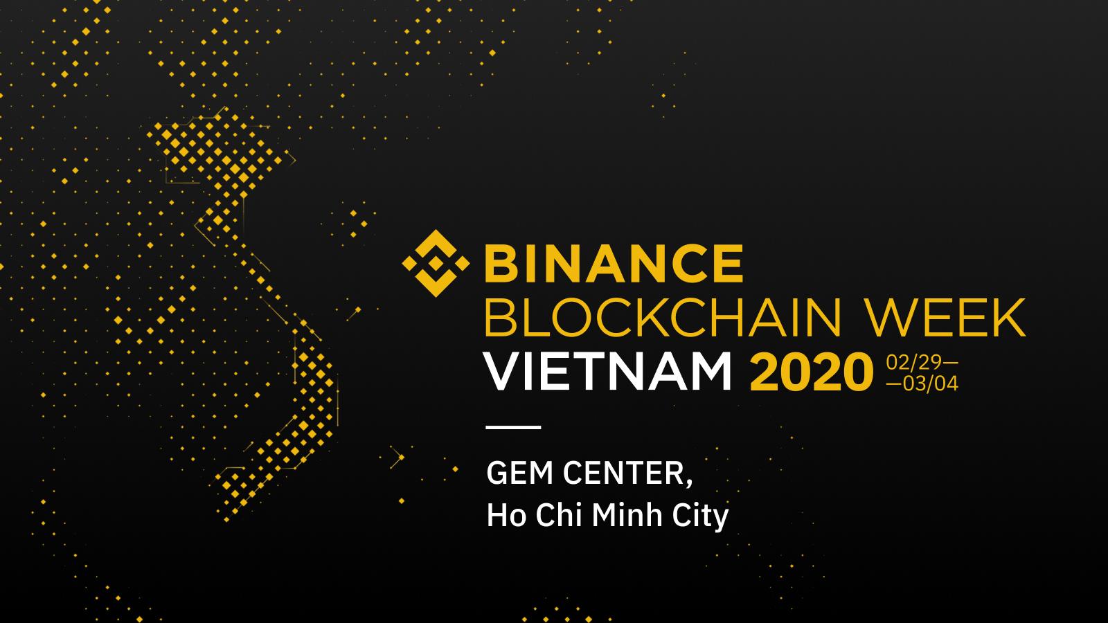 giá bitcoin: Việt Nam sẽ là nơi tổ chức Binance Blockchain Week 2020