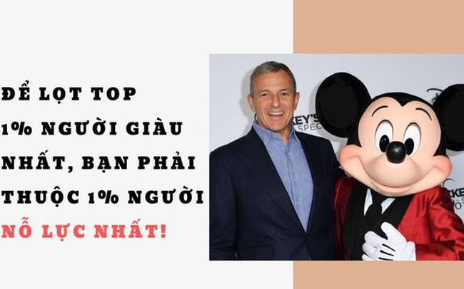 giá bitcoin: Từ cậu bé cạo bã kẹo cao su dưới hàng nghìn chiếc bàn đến CEO của gã khổng lồ Disney: Để lọt top 1% người giàu nhất, bạn phải thuộc 1% người nỗ lực nhất!