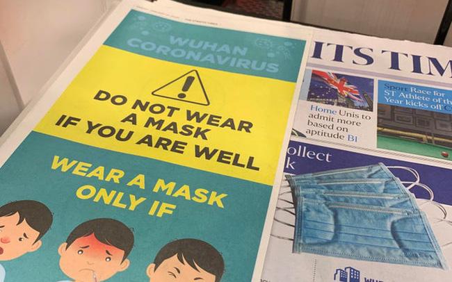 giá bitcoin: Tờ báo lớn nhất Singapore khuyến cáo không đeo khẩu trang nếu bạn cảm thấy khỏe, rửa tay bằng xà phòng là cách tốt hơn